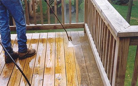 pre-washing wood restoration