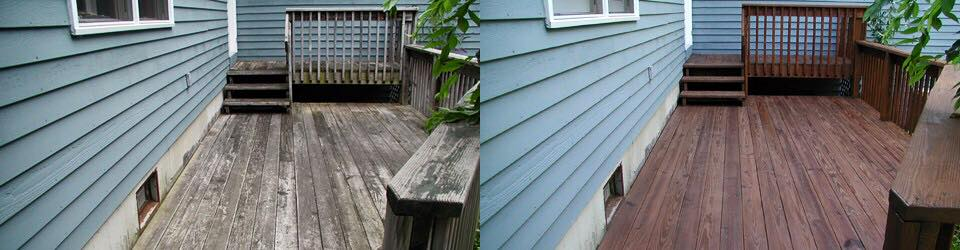 deck cleaning and stain removal