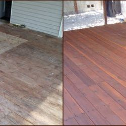 before and after deck pressure washing and stain removal thumbnail