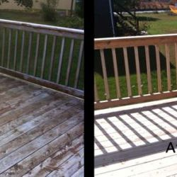 deck cleaning before and after thumbnail